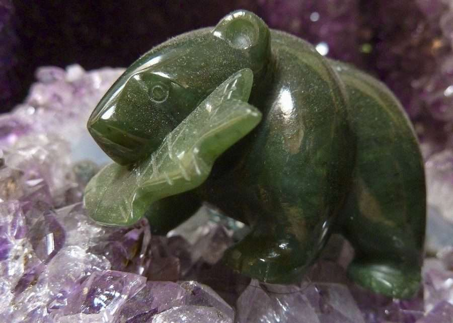 green jade spirit animal stone